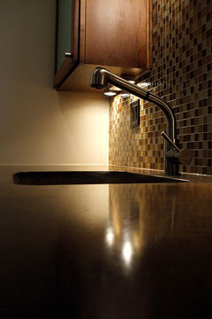 kitchen concrete counter top